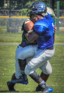 Mr. Whitehurst on the tackle. Photo courtesy of hudl.com.