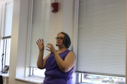 Ms. Smith addressing journalism students. Photo by Brandon Gaddy.